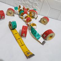 Meteran Baju Meteran 150cm 60inch Model kancing Meteran Bahan