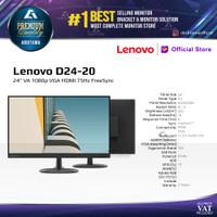 Monitor LED Lenovo D24 D24-20 24 VA 1080p VGA HDMI 75Hz FreeSync