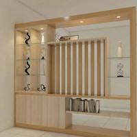 penyekat ruangan minimalis modern custom UK 260x240 bisa custom