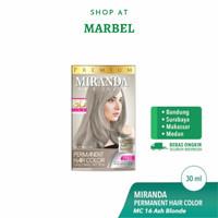 MIRANDA CAT RAMBUT PERMANEN (HAIR COLOR) MC16 ASH BLONDE 30ml