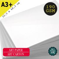 Kertas Art Carton / Art Paper 190 Gsm Uk A3+ 32,5 cm X 48,3 cm