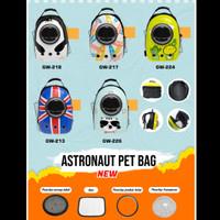 Tas Travel Hewan Anjing/Kucing Model Astronaut