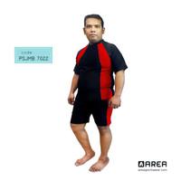 Baju Renang Pria Dewasa Setelan Jumbo - Merah, 3L