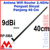 Antena Router Wifi 2.4GHz - 5.8GHz Penguat Sinyal Panjang 40 Cm RP SMA