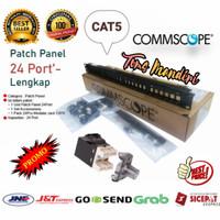 Patch Panel 24 Port Commscope Cat5/ Patch Panel AMP Commscope Cat5