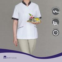 Baju Seragam Suster FITFORM-BATIK Mandarin CombiTaupe (Celana Panjang)