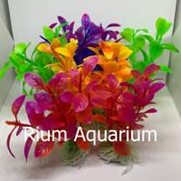 Tanaman rumput hias Aquarium plastik 20cm