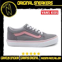 VANS Toddler Kids Old Skool Pop Grey Pink Lcing Sepatu Anak Original