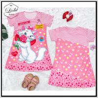 Baju Atasan Dress Anak Perempuan Motif Lucu Kucing Usia 5-10 Tahun