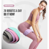 AOLIKES NON SLIP ADJUSTABLE FABRIC Hip Resistance Band Hip Booty Squat