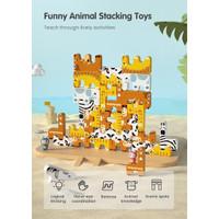 tumama animal stacking height animal motorik balance anak susun