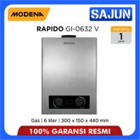 Modena Gas Water Heater 6 Liter RAPIDO GI 0632V / GI0632V