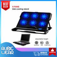 ICE COOREL Cooling Pad Laptop 6 Fan - K6 - Blowe/ Kipas Angin laptop