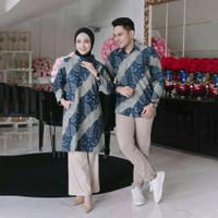 Baju Exclusive Kemeja Batik Couple Pria Wanita Modern - Batik Pria, S