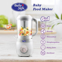 Baby Safe Baby Food Maker 6in1 Processor Steamer Blender Steam MPASI