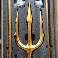 HCMY studio golden color metal Trident aquaman Lifesize 1/1