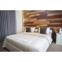 Sleep Buddy Set Sprei dan Bed Cover Plain Khaki Tencel - Single Size