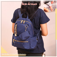 MOIS DE MARS - UniG Series - Backpack / Tas Ransel Wanita + Pouch - Biru
