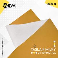 Kain Taslan Milky Kuning Tua no 4 Weva Textile
