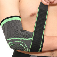 Aolikes 7548 Pelindung siku lengan Compression Elbow Brace Sepasang - Hijau, M