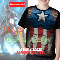 Baju Kaos Anak Cowok Captain America Body Avengers Tshirt Rhymes