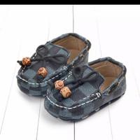 IMPORTED!! PREWALKER L V BOY sepatu branded anak lucu BABEEBABYSHOP - BLUE, 6-12 bulan