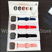 Smartwatch iwo Original T500+Plus 1:1 Apple Watch Pro iphone games Jam - Biru