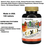 Nature's Plus Source Of Life Animal Parade GOLD Multivitamin Anak 120s