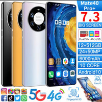 Smartphone Android Mate40 Pro+ RAM 12GB ROM 512GB Smartphone gaming