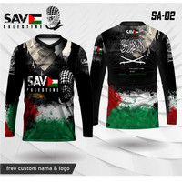 Jersey free palestine kaos save palestina baju islami lengan panjang