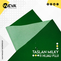 Kain Taslan Milky Hijau Fuji no 11 Weva Textile