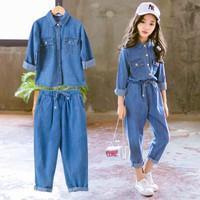 Baju Setelan Denim Anak Perempuan 4 - 9 Tahun Import . DC-006