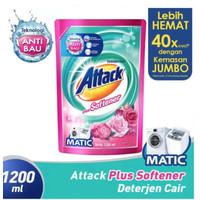 Attack Plus Softener Liquid Detergent 1.2L Sabun Cuci Baju 1200mL 1,2L