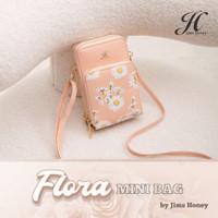 Jims Honey - Tas Selempang Flora Mini Bag Original Jimshoney - Pink