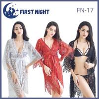 LINGERIE SET SEXY BAJU TIDUR + CD + BRA WANITA HOT SEKSI KIMONO FN-17