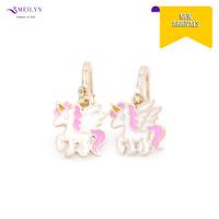 Meilyn Anting Jurai Gold Motif Kuda Poni Sayap Pink Putih 0271190340
