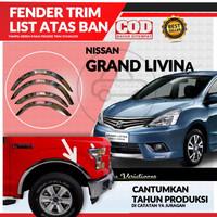 Over Fender Trim List Lis Atas Ban Mobil Nissan Grand Livina