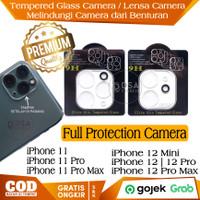 Tempered Glass iPhone 11 12 Pro Max Pelindung Lensa Kamera Anti Gores