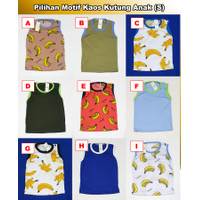 Kaos Kutung Anak (S/1-2th) Baju Harian Anak Laki dan Perempuan