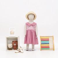 Dress anak perempuan, baju anak kode LE2013 - Merah Muda, XL(3-4 Tahun)