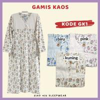 Gamis Kaos Siu Lie / Baju Tidur Long Dress Wanita