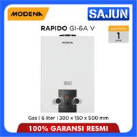 Modena Gas Water Heater 6 Liter RAPIDO GI 6A V / GI-6AV / GI6AV
