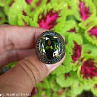 Batu cincin permata Green Aqua marine