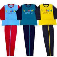 Setelan Baju Tidur Piyama Celana Panjang Anak Laki Usia 11 12 13 Tahun
