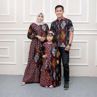 Baju Batik Keluarga Mama Papa Anak Seragaman Cople Keluarga Modern