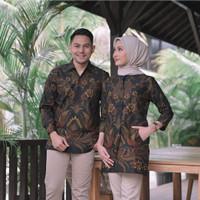 Kemeja Baju Batik Batu Raden Couple Pria Wanita Indonesia - Batik Pria, S