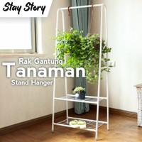 Rak Tanaman Besi Hias / Rak Bunga Besi Minimalis Standing Pot