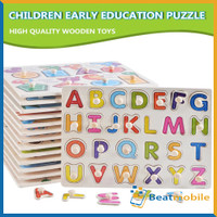 Mainan Edukasi Anak Puzzle Knob Belajar Huruf Puzzle Kayu Wooden Knob