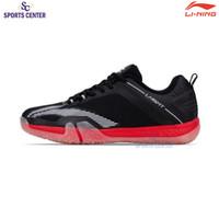New Sepatu Badminton Lining Saga Lite 3 Black / Red AYTQ092-1