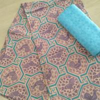 kain batik print bahan dobby motif ayam trusmi cirebon